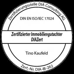 Immobilienbewertung Tino Kaufeld Diazert-Stempel