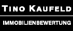 Immobilienbewertung Tino Kaufeld Logo weiß
